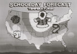 Schoolday Forecast Map on the Weather Channel