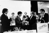 Jerry Levin receives award from Greg Liptak at 1982 CTAM meeting