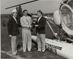Rogers Cable TV of Toronto helicopter used to deliver golf trophy