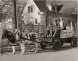 K-Vision Services installation crew in horse-drawn wagon, Nova Scotia
